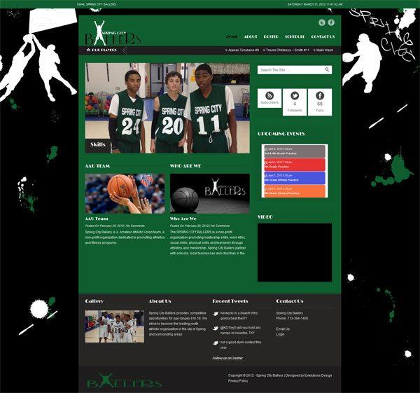 Spring City Ballers Web Design