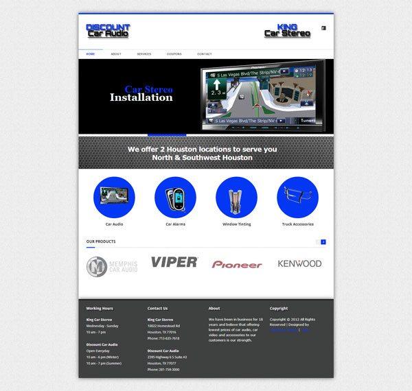 Discount Audio Web Design