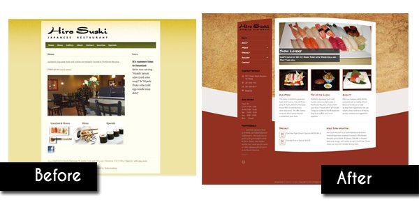 Hiro Sushi Web Design