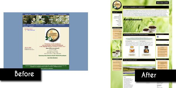 Magnolia Parkway Chamber Web Design