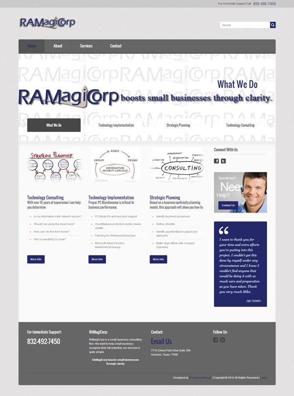 RaMagiCorp Web Design