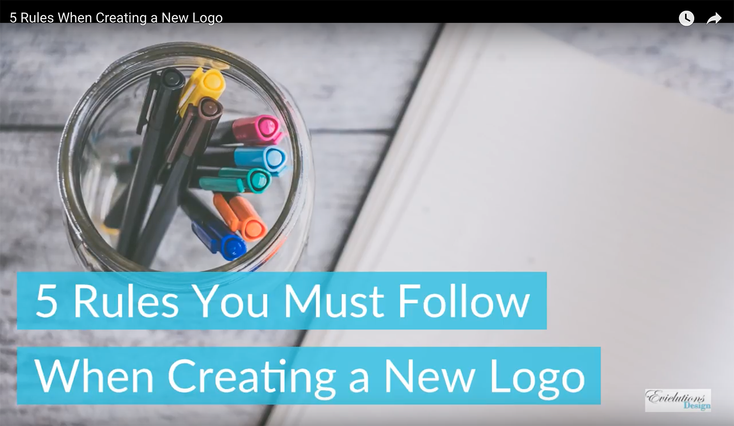 5 Rules You Must Follow When Creating a New Logo