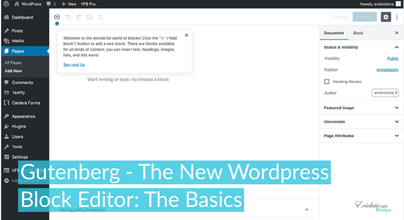 Gutenberg – The New WordPress Block Editor: The Basics